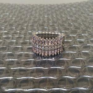 Pink Rhinestones Ring